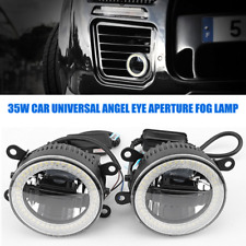 35W 2PCS Car 3in1 LED Universal Angel eye Aperture Daytime Light Front Fog Lamp