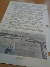 WW2 - D-DAY (Sword) BEACH Area (OUISTREHAM) British Navy Navigation Card (1943)