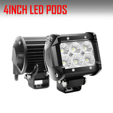 2x 4inch 18W CREE Led Work Light Bar SPOT Cube Pods Offroad Lamp Fog SUV ATV 5""