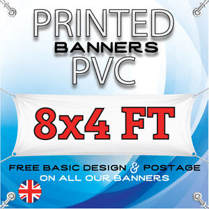 8FT X 4FT PVC BANNER - OUTDOOR SIGN - PERSONALISED ADVERTISEMENT VINYL PRINT