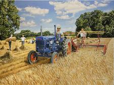 Fordson Major Tractor Farm Scene 1950s Birthday Card