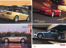 Honda S2000 Postcard Lot (4): 2001,2003,2004,2005