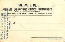 * BOLOGNA - Testatina Pubblicitaria - SAIS Laboratorio Chimico Farmaceutico 1931