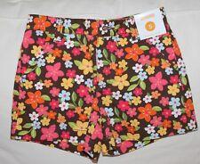 Gymboree NWT 5 Aloha Sunshine brown flowered shorts adjustable waist floral