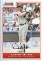 2006 Bowman Chrome Baseball Refractors #65 Derek Jeter New York Yankees