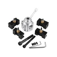 Quick Change Mini Lathe Tool Post and Holder Kit Set Aluminum Alloy