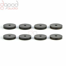 8X AFRICAN EBONY ISOLATING SPIKE PADS SHOES HI-FI HAUT PARLEURS AND