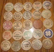 Lot of 25 Wooden Nickels - #42