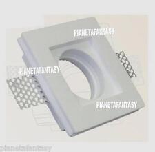 Porta Faretto in Gesso Ceramico da incasso per Lampade led + Portalampada GU10