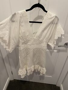 Thurley White Dress Size 10