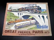 CATALOGUE DE JOUETS MAERKLIN ORSAT Trains Toupies Canons Constructions 1937