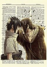 Sasuke & Itachi Anime Dictionary Art Print Poster Picture Japan Uchiha Naruto