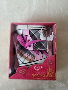 Our Generation Plaid All Over Doll Shoes Accessory Set NEW
