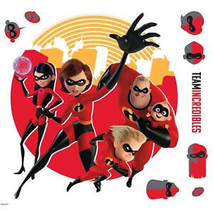 THE INCREDIBLES GIANT WALL DECALS Elastigirl Flash Violet Stickers Kids Decor
