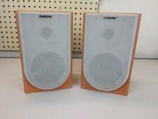 Sony SS-CNE3 Bookshelf Speaker set. Tested & Working. Brown wood & Gray Mesh.