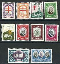 Latvia Stamps C56-65 Mi 161-70 Anti Tuberculosis MNH VF 1930 SCV