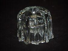 Old Vintage Avon Clear Glass Single Light Taper Candlestick or Votive Holder
