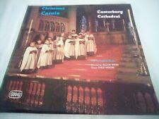 Christmas Carols At Canterbury Cathedral vinyl LP album record vg++