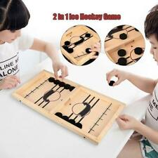 Wooden Hockey Game Table Game Family Fun Game for Kids Children 100% Wood color