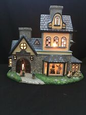 PartyLite Olde World Village Candle Shoppe Tealight House P7315 in Box -Used