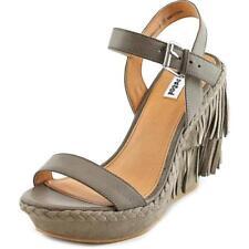 Sandalias y chanclas de mujer de tacón alto (más que 7,5 cm) Color principal Gris Talla 36.5