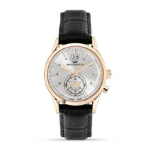 Orologio Philip Watch Sunray R8251180008 uomo pelle nero watch SWISS cassa oro