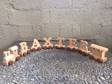 Wooden Name Train Personalised Baby Gift 1st Birthday Christening Keepsake Gift