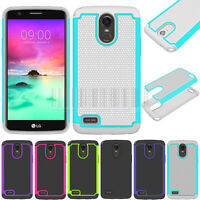 Hybrid Armor Case Shockproof Rubber Cover For LG Stylo 3/Stylo 3 Plus/K10 Pro