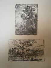 Planche gravure Claude Gellée dit le Lorrain :Le patre la bergére le troupeau