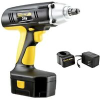 """Electric Impact Wrench Cordless w/ Battery Charger Set 24V 1/2"""" Drive Wireless"""
