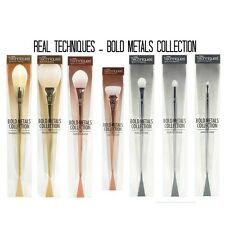 REAL TECHNIQUES Makeup Bold Metal 7pcs Set Blush Brushes Full Kit Tools Set