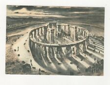 Stonehenge Wiltshire About 1400BC Postcard 605a