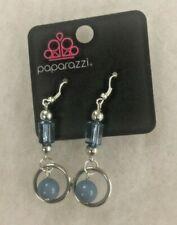 Paparazzi Blue Circles & Pearls Dangle Earrings