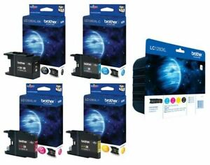 Lot Of 4 Cartridge Printer Brother LC-1280XL Black/Blue/Yellow/Magenta
