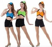 Come And Get It Dance Costume Crop Top w/High Waisted Shorts CHOICE Color & Size