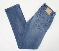 Levis Levi's Jeans 511 W31 L34 31/34 blau stonewashed Gerade Denim -E301