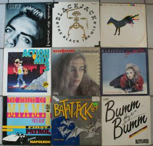 AK134) 90x Maxis Schallplatten, 80er Jahre Sammlung, Italo, Zyx, Electronic