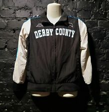 Derby County Kappa zip jacket with side stripes and large center club logo sz YM