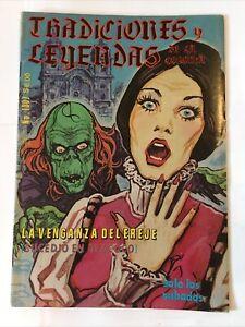 Tradiciones Y Leyendas De La Colonia La Venganza del Ereje 1980 Horror Comic Sp