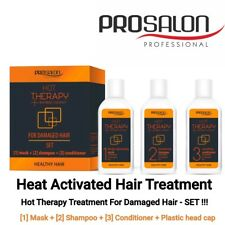 Hair Mask For Damaged Hair Repair Set Treatment+Shampoo+Conditioner Hot Therapy