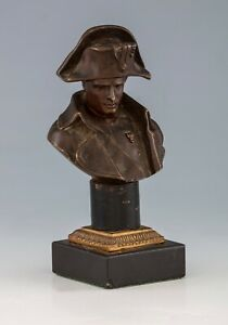 Antique Viennese Bronze - Napoleon Bust - Original marble mount - HD Pictures
