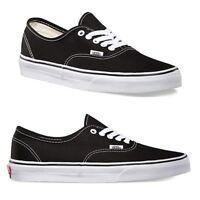 Vans Authentic Classic Black/White Shoe Unisex Canvas Sneakers