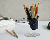 Pencil Holder Design Floating Bucket Pen Case Container Ideal Desk Accessory