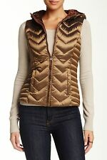Be The Blanc Noir Women's Chevron Quilted Hooded Down Vest - Size XL - C1012