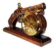 Pistole Revolver Uhr Quarzuhr Quarz Kaminuhr Tischuhr Clock Tischuhr Kaminuhr