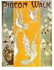at home decor Pigeon Walk sheet music cover art poster