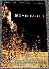 SEABISCUIT 2003 ORIGINAL 11x17 MOVIE POSTER! TOBEY MAGUIRE HORSE RACING CLASSIC!