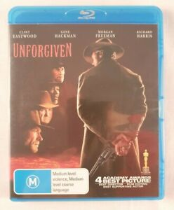 Unforgiven BLU-RAY 1992 Clint Eastwood Morgan Freeman FREE POSTAGE