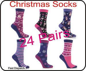 Christmas Gift 24 Pairs Ladies Women Designer Socks Wholesale Job Lot Clearance