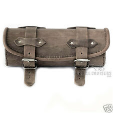 MOTORCYCLE BROWN LEATHER TOOL ROLL BAG HONDA VT750 C2 C4 C5 SHADOW SPIRIT AREO